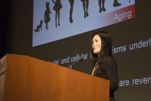 Speaker presents at the NHLBI/NIDDK 2016 Mitochondrial Biology Symposium at NIH